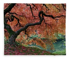 Under Fall's Cover Fleece Blanket