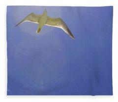 Under His Wings II Fleece Blanket