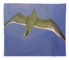 Under His Wings IIi Fleece Blanket