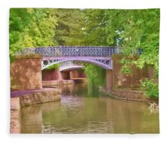 Under The Bridges Fleece Blanket
