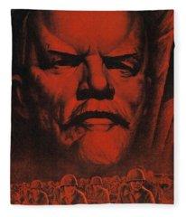 Under The Flag Of Lenin March To Victory 1941 Soviet Propaganda  Fleece Blanket