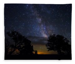 Under The Stars At The Grand Canyon  Fleece Blanket