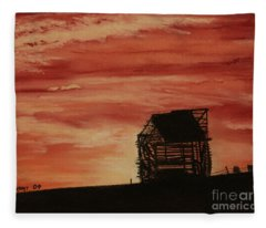 Under The Sunset Fleece Blanket
