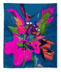 Underwater Feline Fleece Blanket