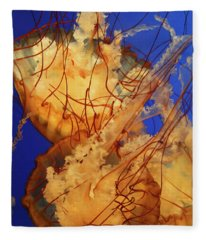 Underwater Friends - Jelly Fish By Diana Sainz Fleece Blanket