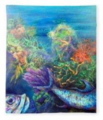 Jesus Reef  Fleece Blanket