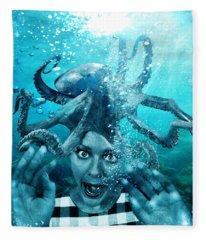 Underwater Nightmare Fleece Blanket