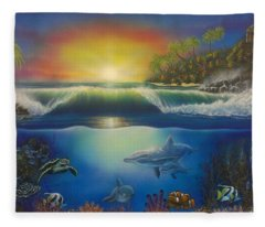 Underwater Paradise Fleece Blanket