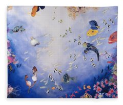 Underwater World Iv  Fleece Blanket