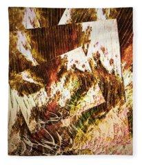 Unfinished Business Abstract Art Fleece Blanket
