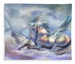 Unicorn Of Peace Fleece Blanket