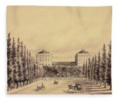 United States Capitol From Pennsylvania Avenue Fleece Blanket