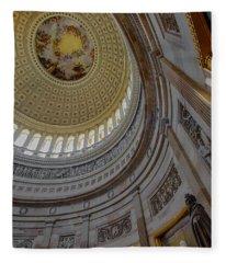 Unites States Capitol Rotunda Fleece Blanket