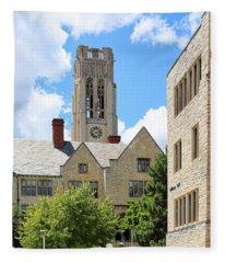 University Hall University Of Toledo 1586 Fleece Blanket