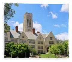 University Hall University Of Toledo 1588 Fleece Blanket