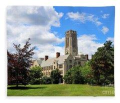 University Hall University Of Toledo 1589 Fleece Blanket