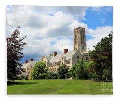 University Hall University Of Toledo 1593 Fleece Blanket
