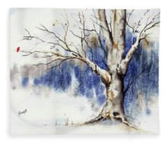 Untitled Winter Tree Fleece Blanket