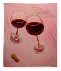 Fleece Blanket featuring the painting Uplifting Spirits II by Sandi Whetzel