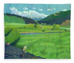Upper Bear Creek Colorado Fleece Blanket