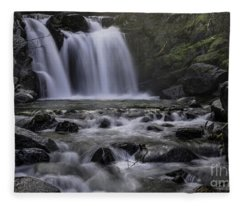 Upper Crystal Creek Falls  Fleece Blanket