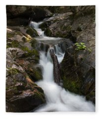 Upper Pup Creek Falls Fleece Blanket