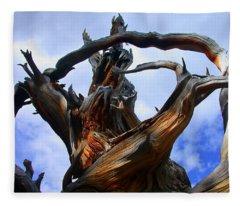 Uprooted Beauty Fleece Blanket