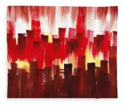 Urban Abstract Evening Lights Fleece Blanket