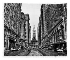 Urban Canyon - Philadelphia City Hall Fleece Blanket