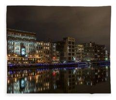 Urban River Reflected Fleece Blanket