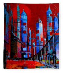 Urban Vision - City Of The Future Fleece Blanket