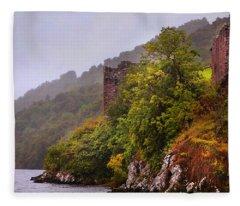 Urquhart Castle. Loch Ness. Scotland Fleece Blanket