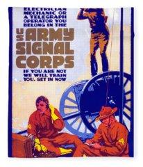 Us Army Signal Corps, 1917-20 Fleece Blanket