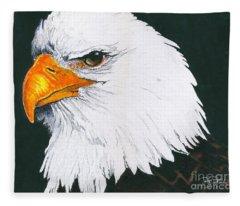 Us Bald Eagle Fleece Blanket
