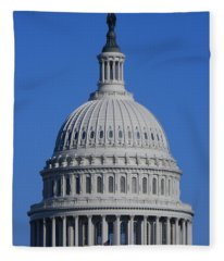 Us Capitol Dome Fleece Blanket