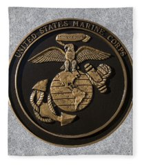 Us Marine Corps Fleece Blanket