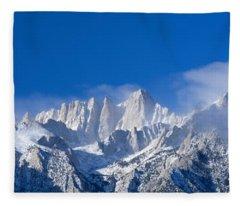 Usa, California, Mount Whitney Fleece Blanket
