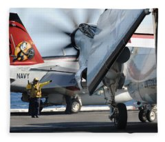 Uss George H.w. Bush Fleece Blanket
