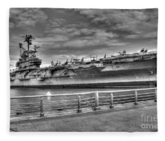 Uss Intrepid Fleece Blanket