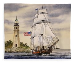 Uss Niagara Fleece Blanket