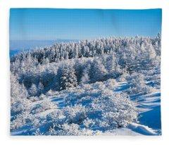 Utsukushigahara Nagano Japan Fleece Blanket