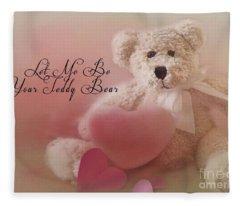 Valentine Bear 2 Fleece Blanket