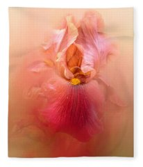 Valentine Iris Fleece Blanket