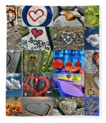 Valentine's Day - Hearts For Sale Fleece Blanket