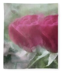 Valentine's Roses Fleece Blanket
