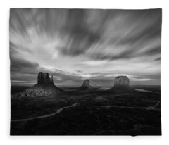 Valley Of Time Fleece Blanket