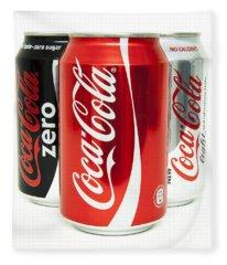 Various Coke Cola Cans Fleece Blanket