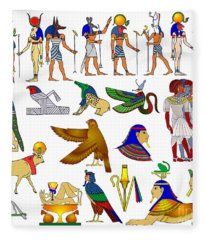 Various Themes Of Ancient Egypt Fleece Blanket