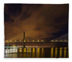 Vasco Da Gama Bridge Fleece Blanket