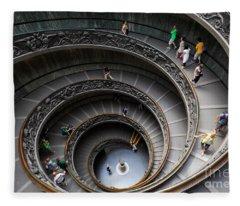 Vatican Spiral Staircase Fleece Blanket